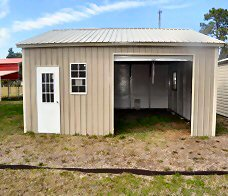 Garage Building in Jacksonville - Custom Sizes - OVER 50% Cheaper