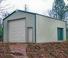 Garage - easily constructed to fit your needs. OVER 50% Cheaper